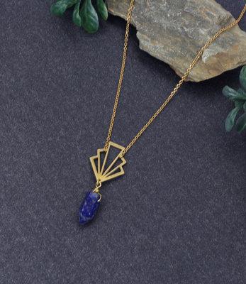 Sautoir art deco Lapis lazuli