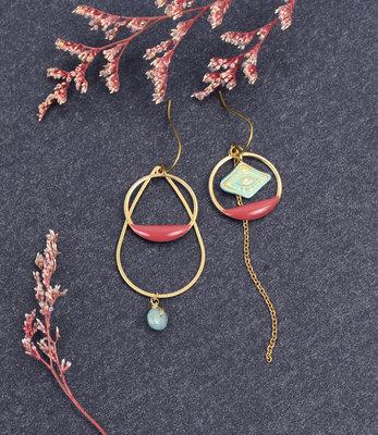 Boucles d'oreilles oeil turquoise