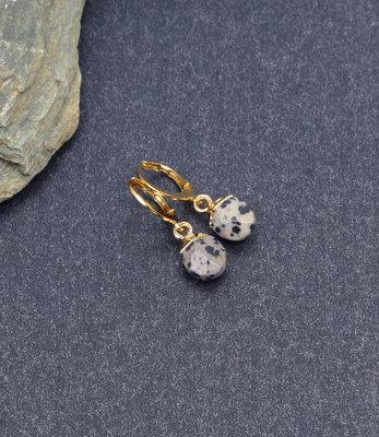Petites créoles doré jasper dalmatien