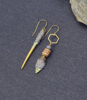 Boucles d'oreilles barettes tribales
