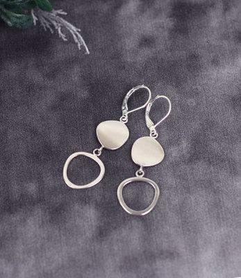 Boucles d'oreilles cercles en argent