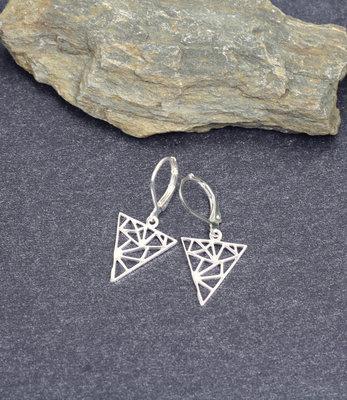 Boucles d'oreilles triangles en argent