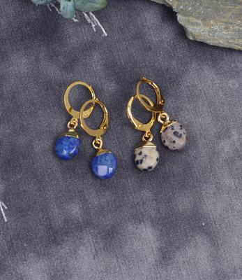 Mini créoles doré avec des pierres