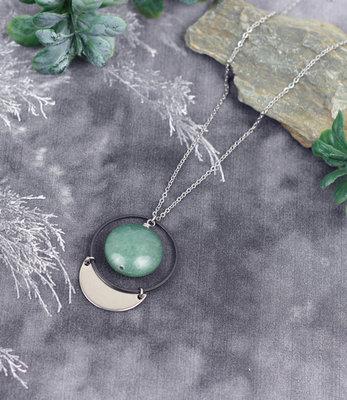 Sautoir Infinie pierre verte