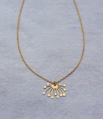 Collier lotus graphique