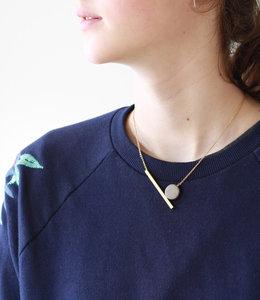 Collier lune geometrique